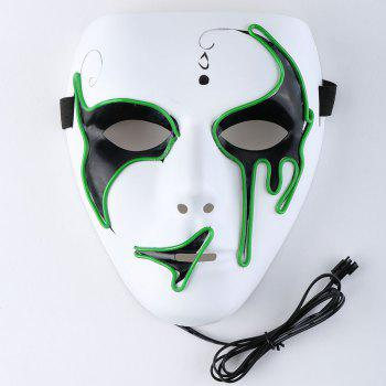 EL Wire Luminous Glowing Halloween Mask - Herbe Verte