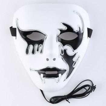 Halloween EL Wire Glowing Cosplay Creepy Mask -  WHITE