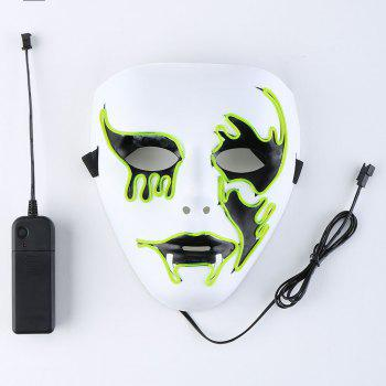 Halloween EL Wire Glowing Cosplay Creepy Mask - FLUORESCENT YELLOW FLUORESCENT YELLOW