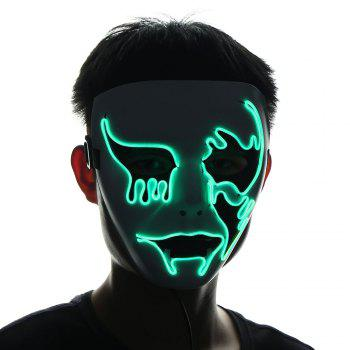 Halloween EL Wire Glowing Cosplay Creepy Mask -  FLUORESCENT YELLOW