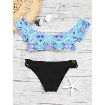 Sweetheart Neck Printed Bikini Set - COLORMIX S