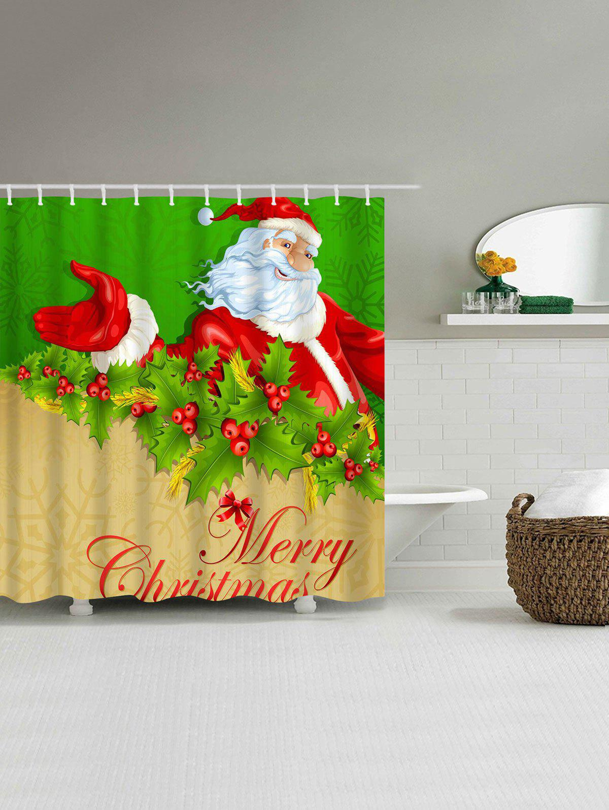 2018 Polyester Christmas Santa Claus Waterproof Shower
