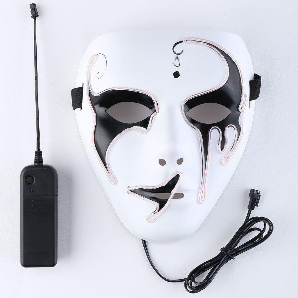 EL Wire Luminous Glowing Halloween Mask - PINK