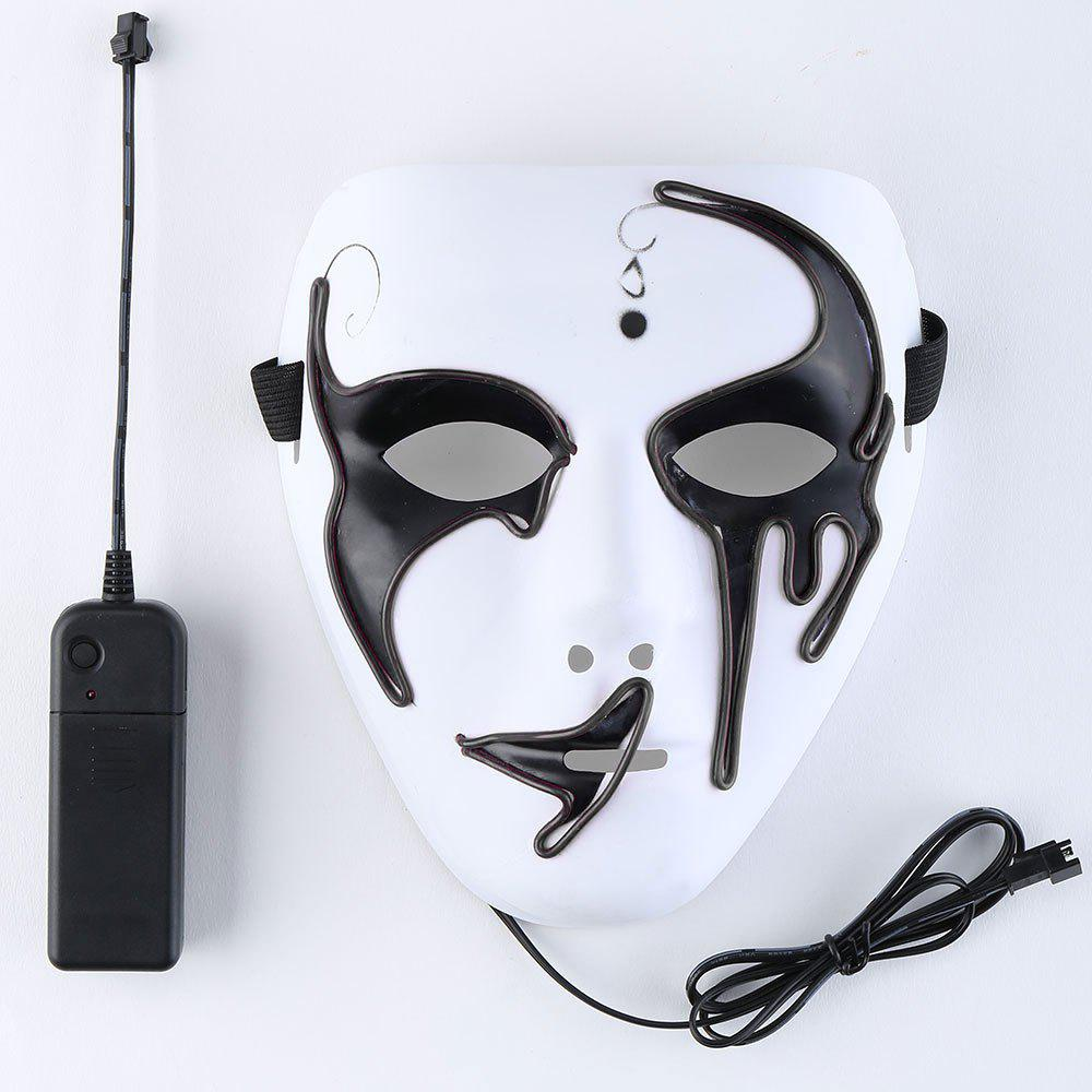 2018 EL Wire Luminous Glowing Halloween Mask WHITE In Halloween ...