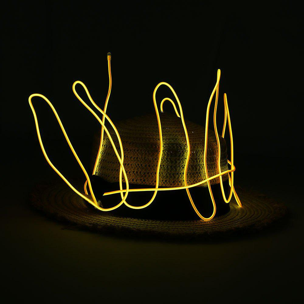 2M Glowing Flexible LED Neon EL Wire Light String - ORANGE