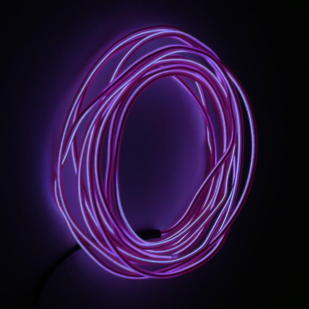 2M Glowing Flexible LED Neon EL Wire Light String - PINK