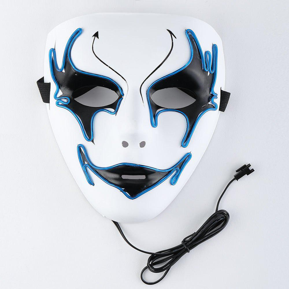 Halloween EL Wire Glowing Costume Mask - BLUE