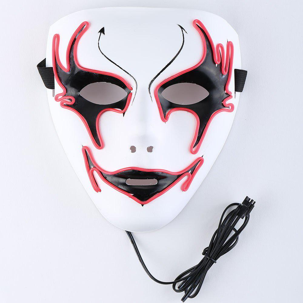 Halloween EL Wire Glowing Costume Mask - Rouge