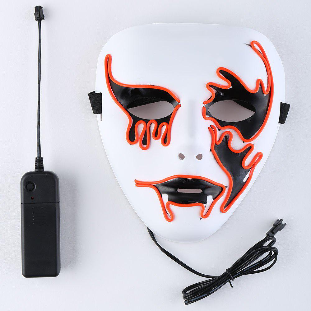 Halloween EL Wire Glowing Cosplay Creepy Mask - JACINTH