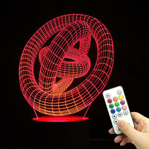 Planet Shape Remote Control Changement de couleur 3D Decoration Light - Transparent