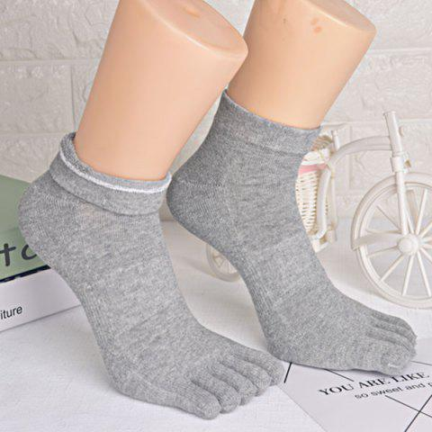 Five Toe Finger Cotton Blend Socks - GRAY