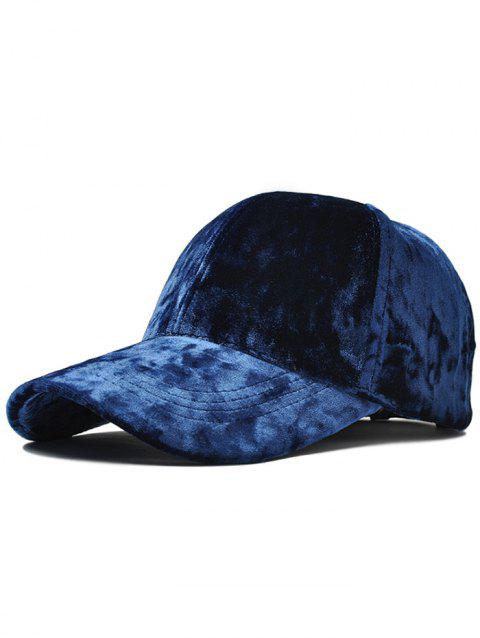 Outdoor Velvet Sunscreen Snapback Caps - DEEP BLUE