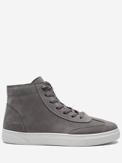 Lace Up High Top Skate Shoes - GRAY 42