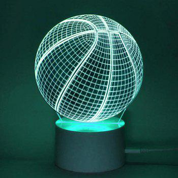Remote Control 7 Color Changing Ball Shape LED Night Light - TRANSPARENT