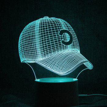 Baseball Cap 3D Télécommande LED Colorful Night Light - Transparent