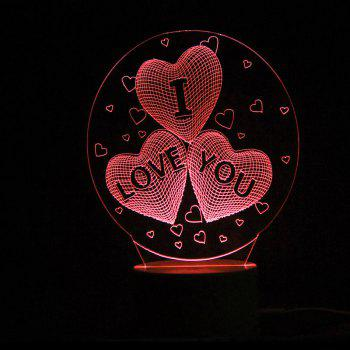 10 Color Changing Love Confession Best Gift LED Night Light - TRANSPARENT