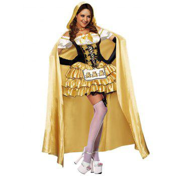 Tier Flounce Princess Costume Dress - YELLOW ONE SIZE