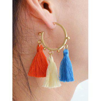 Alloy Circle Tassels Boucles d'oreilles - Or