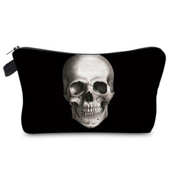 Clutch Print Skull Cosmetic Bag