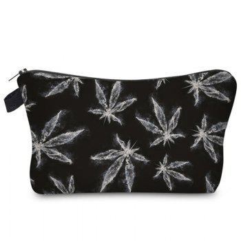 Zipper Print Leve Makeup Bag
