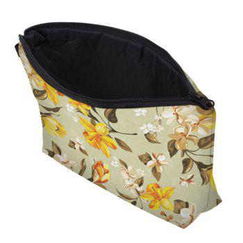 Print Floral Cosmetic Bag - YELLOW