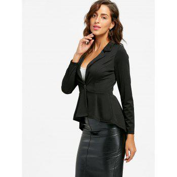 Flounce High Low One Button Blazer - XL XL
