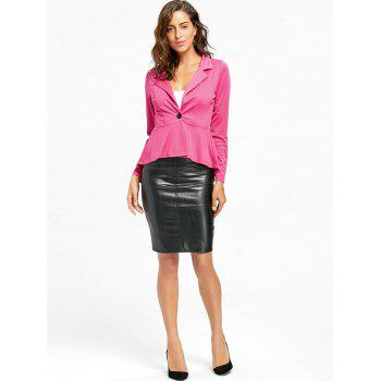 Flounce High Low One Button Blazer - S S
