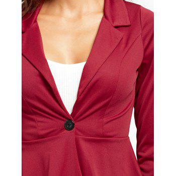 Flounce High Low One Button Blazer - L L