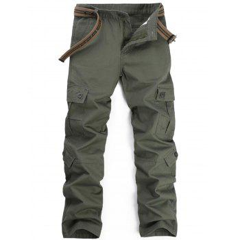 Pockets Straight Leg Cargo Pants - ARMY GREEN ARMY GREEN