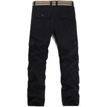 Pockets Straight Leg Cargo Pants - 34 34