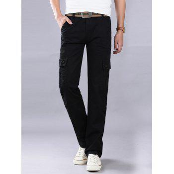 Pockets Straight Leg Cargo Pants - 32 32