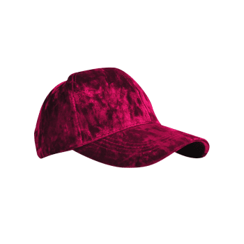 Outdoor Velvet Sunscreen Snapback Caps - WINE RED