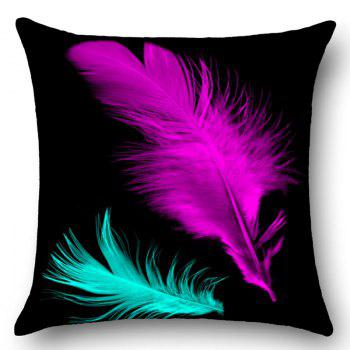 Feathers Printed Home Decor Throw Pillow Case - W18 INCH * L18 INCH W18 INCH * L18 INCH