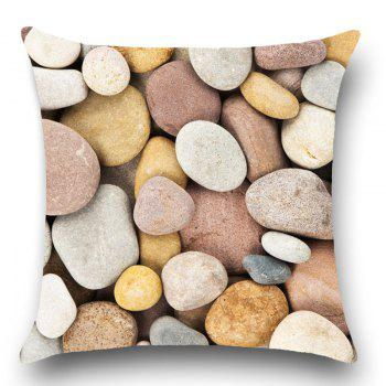 Cobblestone Print Pillow Linen Throw Case - GRAY GRAY