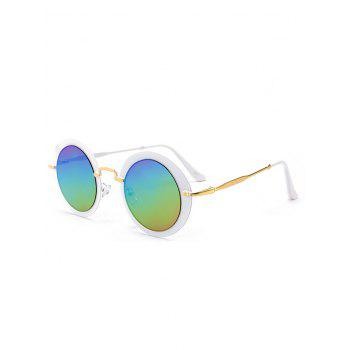 Vintage Metal Full Frame Round Sunglasses - COLOR COLOR