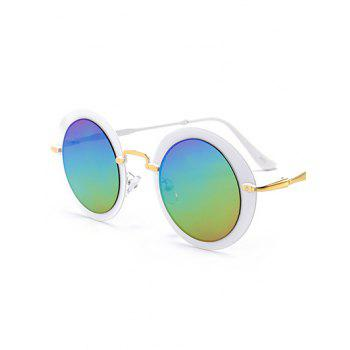 Vintage Metal Full Frame Round Sunglasses -  COLOR