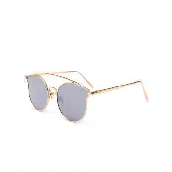 Outdoor Metal Frame Butterfly Sunglasses - REFLECTIVE WHITE COLOR REFLECTIVE WHITE COLOR