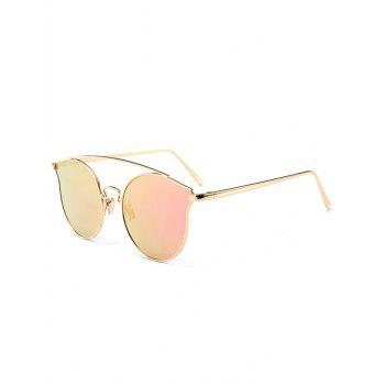 Outdoor Metal Frame Butterfly Sunglasses - PINK PINK
