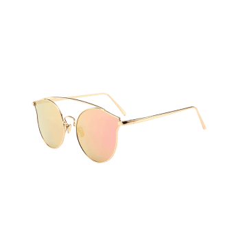 Outdoor Metal Frame Butterfly Sunglasses - PINK