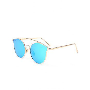Outdoor Metal Frame Butterfly Sunglasses - BLUE BLUE