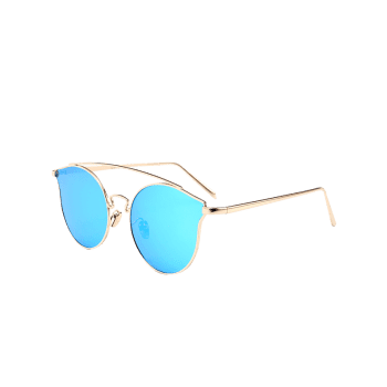 Outdoor Metal Frame Butterfly Sunglasses -  BLUE
