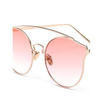 Outdoor Metal Frame Butterfly Sunglasses -  GRADUAL PINK