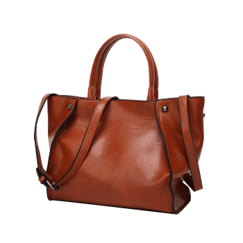 Sac à bandoulière Faux Leather Rivets - Brun