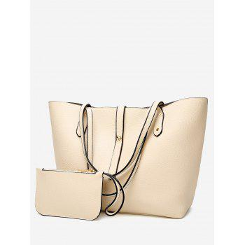 2 Pieces Rivets Shoulder Bag Set - OFF-WHITE OFF WHITE