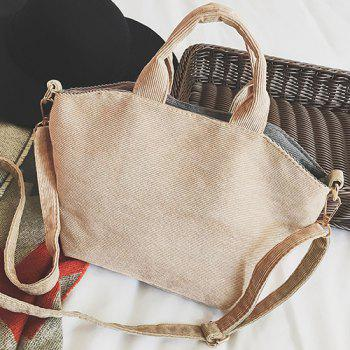 Contrasting Color Animal Shape Crossbody Bag -  KHAKI