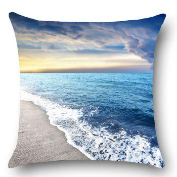 Seascape Beach Pattern Throw Pillow Case - BLUE W18 INCH * L18 INCH