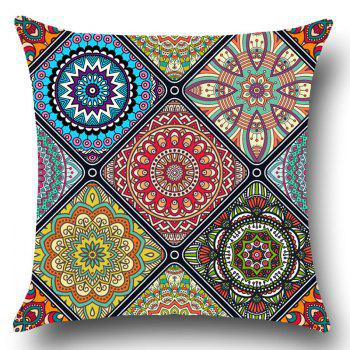 Bohemian Flowers Printed Throw Pillow Case - COLORFUL W18 INCH * L18 INCH
