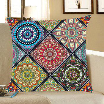 Bohemian Flowers Printed Throw Pillow Case - COLORFUL COLORFUL