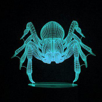 Room Decoration 3D Spider LED Color Change Night Light - TRANSPARENT