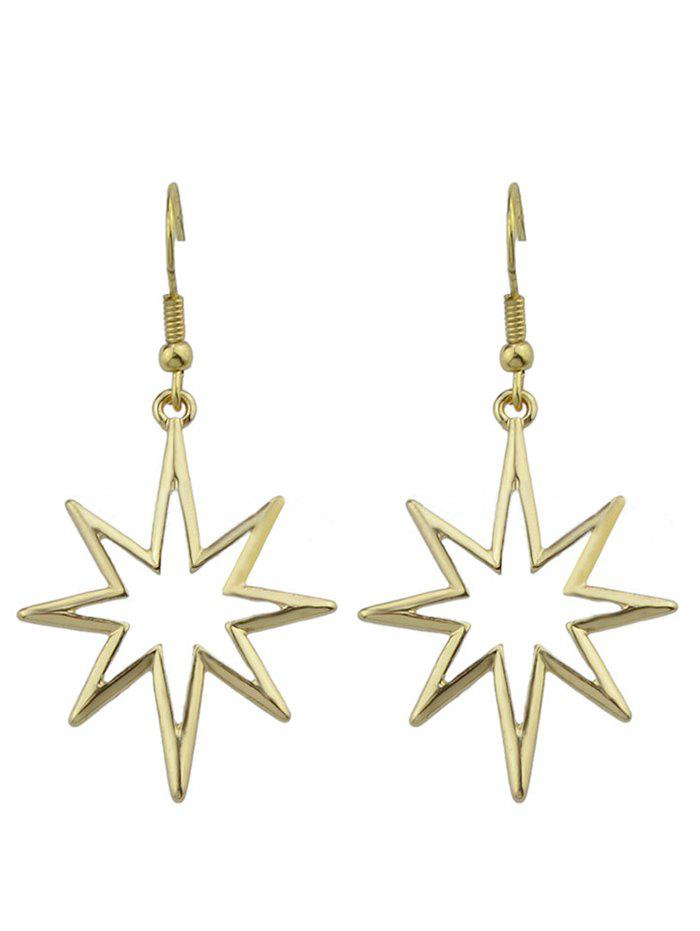 Alloy Geometric Hollow Out Pendant Earrings - GOLDEN